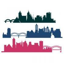 210x210 Memphis City Skyline Tn Tennessee Svg Cuttable Design Crafts