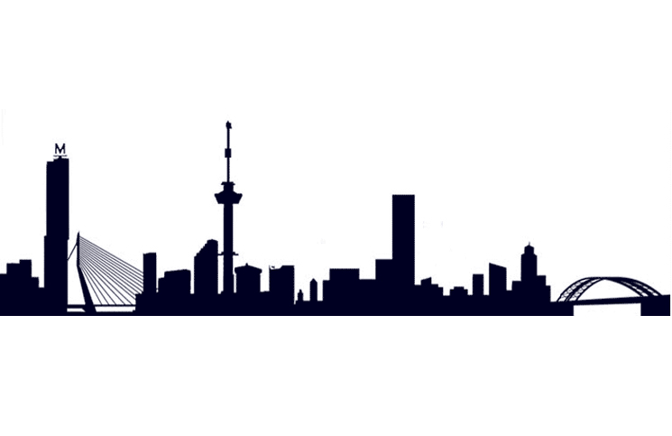 745x483 Rotterdamskyline Drawing Rotterdam, Silhouettes