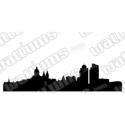 400x400 Amsterdam Netherlands Skyline Vinyl Wall Decal Sticker