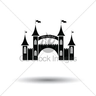 325x325 Amusement Park Entrance Icon Gl Stock Images
