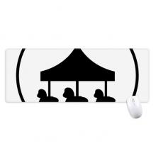 220x220 Carousel Amusement Park Black Silhouette Square Compact Makeup