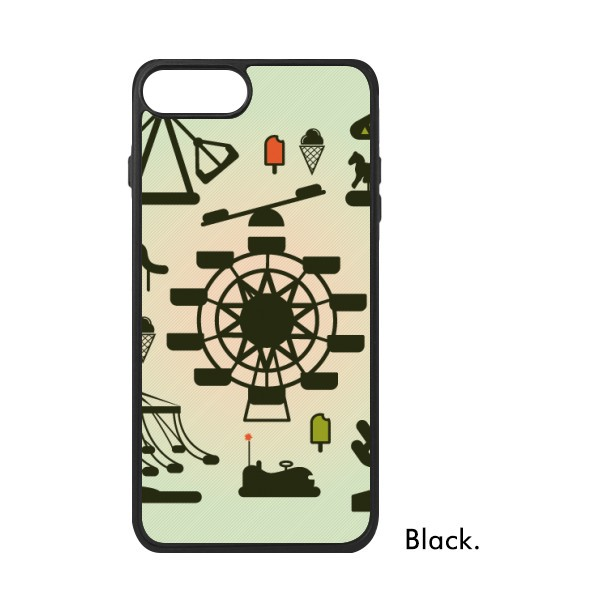 600x600 Dark Green Amusement Park Silhouette For Iphone 77 Plus Cases