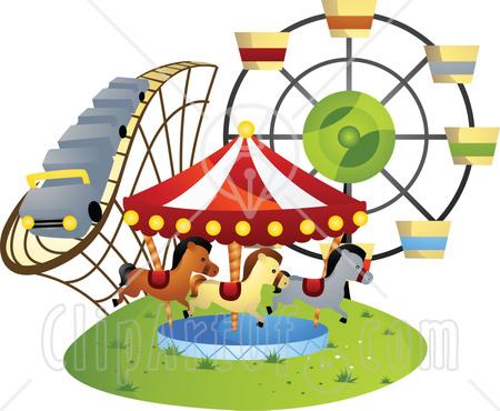 450x370 Ferris Wheel Clipart Amusement Park Rides