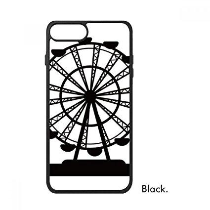 425x425 Black Ferris Wheel Amusement Park Silhouette