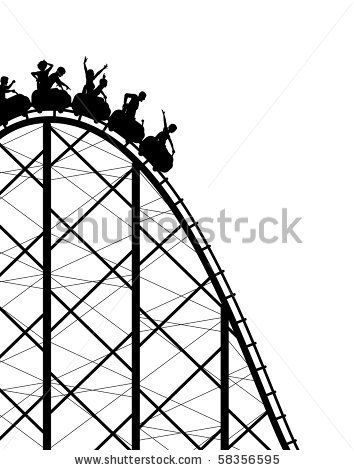 354x470 Rollercoaster Silhouettes