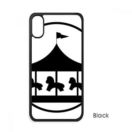 425x425 Carousel Amusement Park Black Silhouette For Iphone X