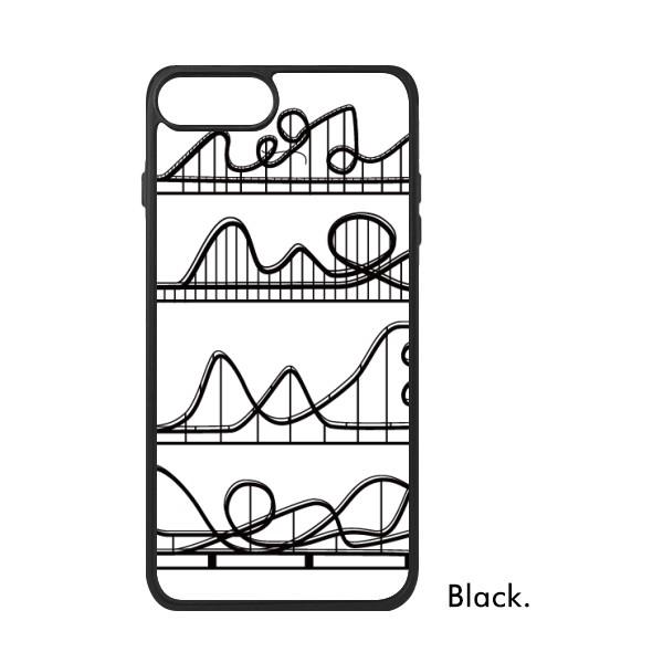600x600 Amusement Park Black Roller Coaster Silhouette For Iphone 88 Plus