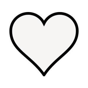 300x300 Heart Outline Clipart Transparent