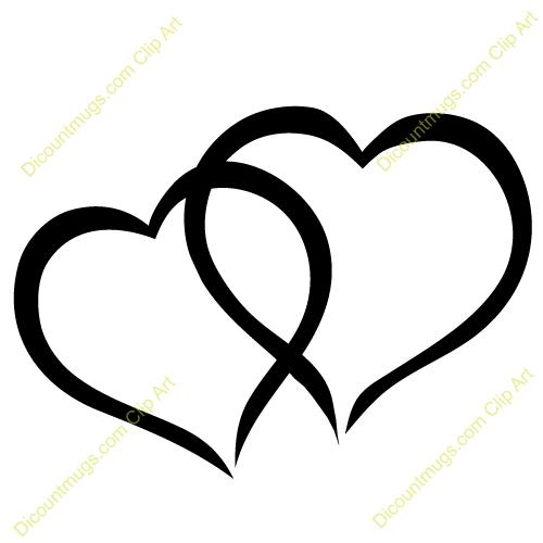 500x500 Interlocking Heart Clipart