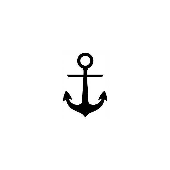 570x570 Mini Anchor Stamp Nautical Stamp Anchor Silhouette Cute