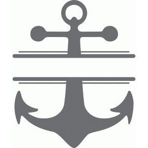 300x300 Split Anchor Monogram Plate Silhouette Design, Silhouettes