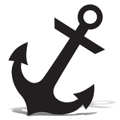 170x170 Anchor Silhouette Cardboard Anchor Silhouette Event Direct