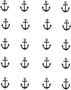 239x300 Anchor Silhouette Waterslide Nail Decals Nail Art Ebay