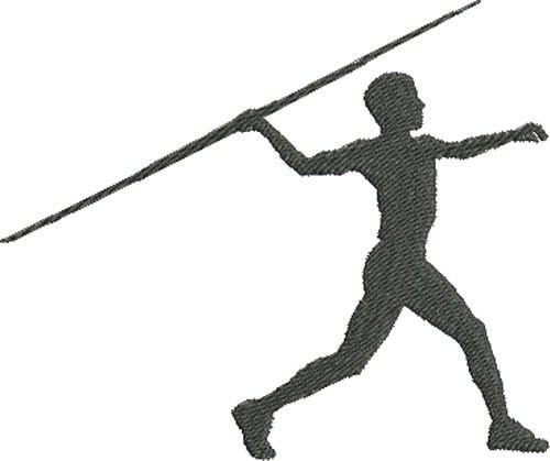 500x419 Javelin Throw Silhouette Embroidery Designs, Machine Embroidery