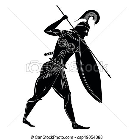 450x470 Vector Greek Drawing. Vector Illustration In Ancient Greek