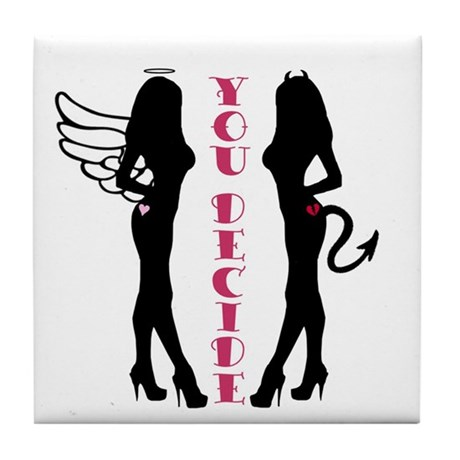460x460 Angel Silhouette Girl Coasters