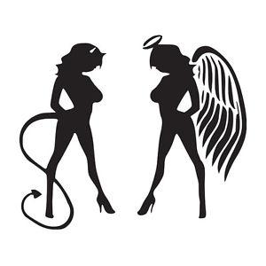 300x300 Devil Angel Girls Ladies Vinyl Decal Window Sticker Car Graphic