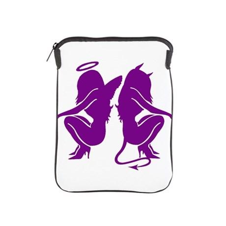460x460 Purple Angeldevil Silhouette Ipad Sleeve By Temporarykink