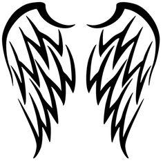 236x236 Tattoo Trends – Angel Devil Wings Tattoo Design – Free Black