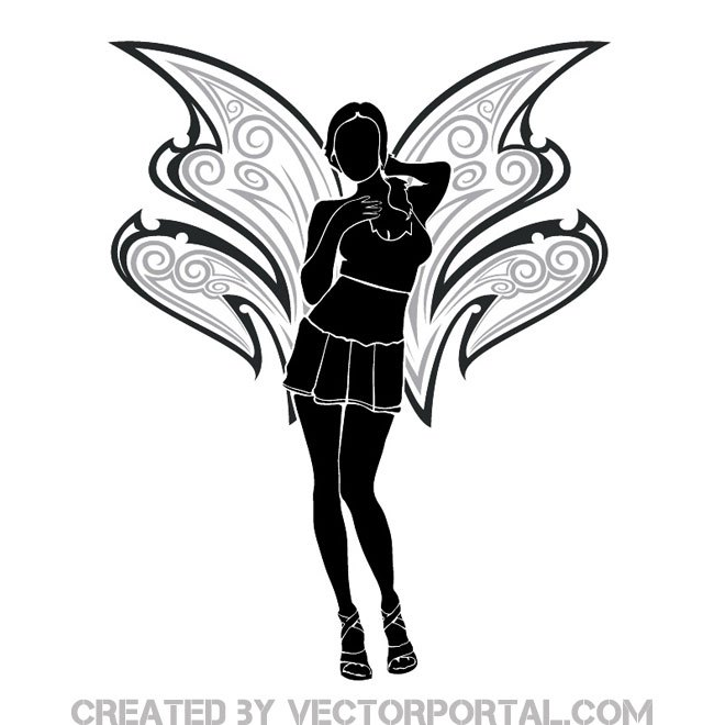 660x660 Fairy Girl Image Free Vector 123freevectors