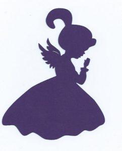 242x300 Little Girl Angel Praying Silhouette Mom's Papercuts