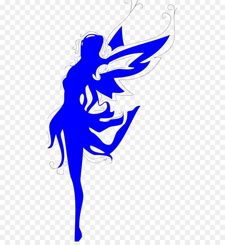 900x980 Abziehtattoo Angel Wall Decal Girl