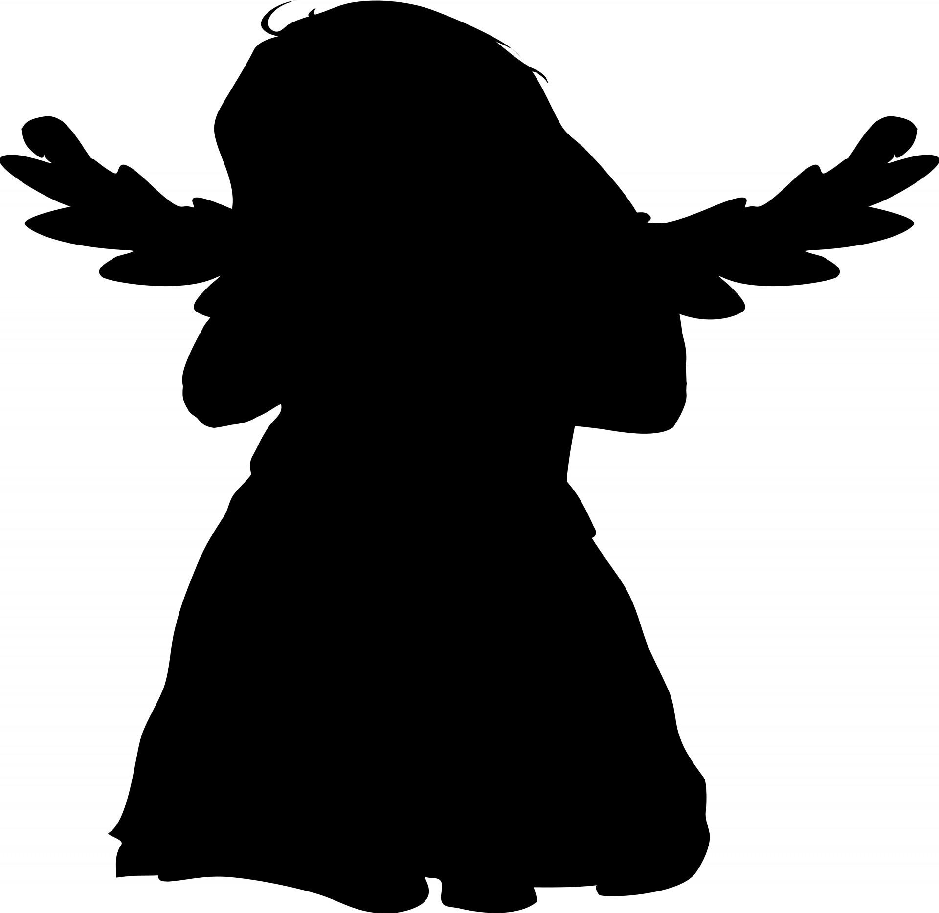 1920x1867 Black Angel Free Stock Photo