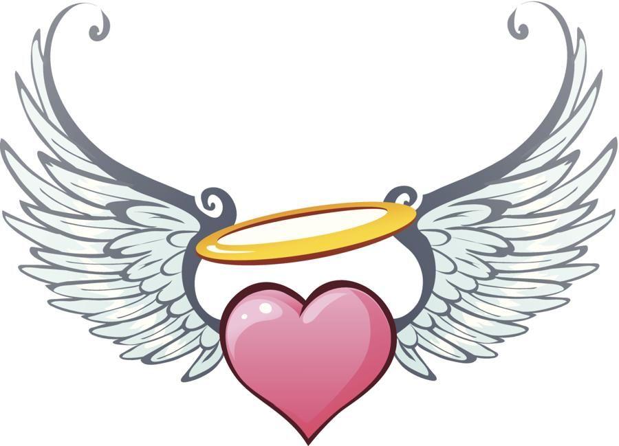900x649 Heart Angel Halo Clip Art