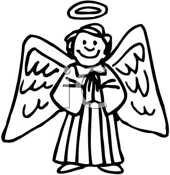 341x350 Picture Of Happyngel With Large Wingsnd Halo Praying In