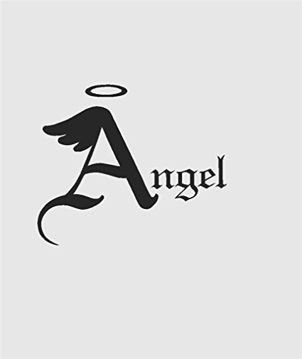 425x505 Letter A With With Wings And Halo Silhouette In Angel