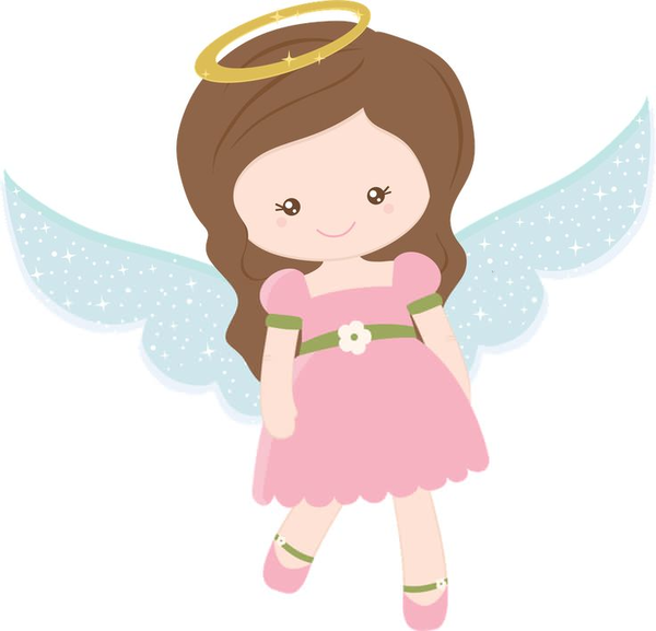 600x577 Baby Girl Angel Clipart