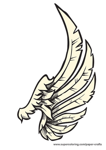 339x480 Left Angel Wing Printable Template Free Printable Papercraft
