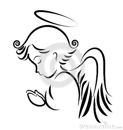 400x421 Angel Praying Logo Fairy Angel Embroidery