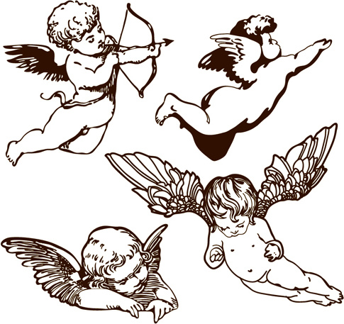 485x457 Angels Free Vector Download (365 Free Vector) For Commercial Use