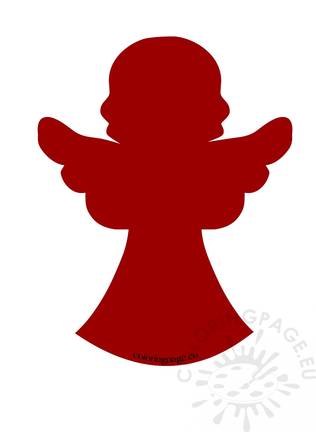 Angel Silhouette at GetDrawings.com | Free for personal use Angel ...