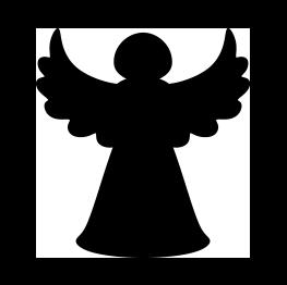 263x262 Christmas Tree Angel Silhouette Jesus