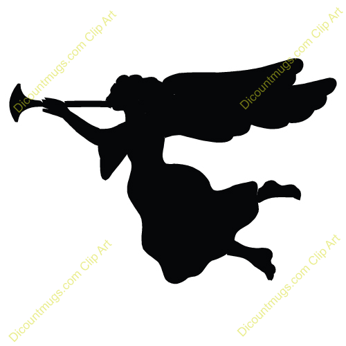 500x500 Angel Solid Description Silhouetted Depiciton Of The Herald