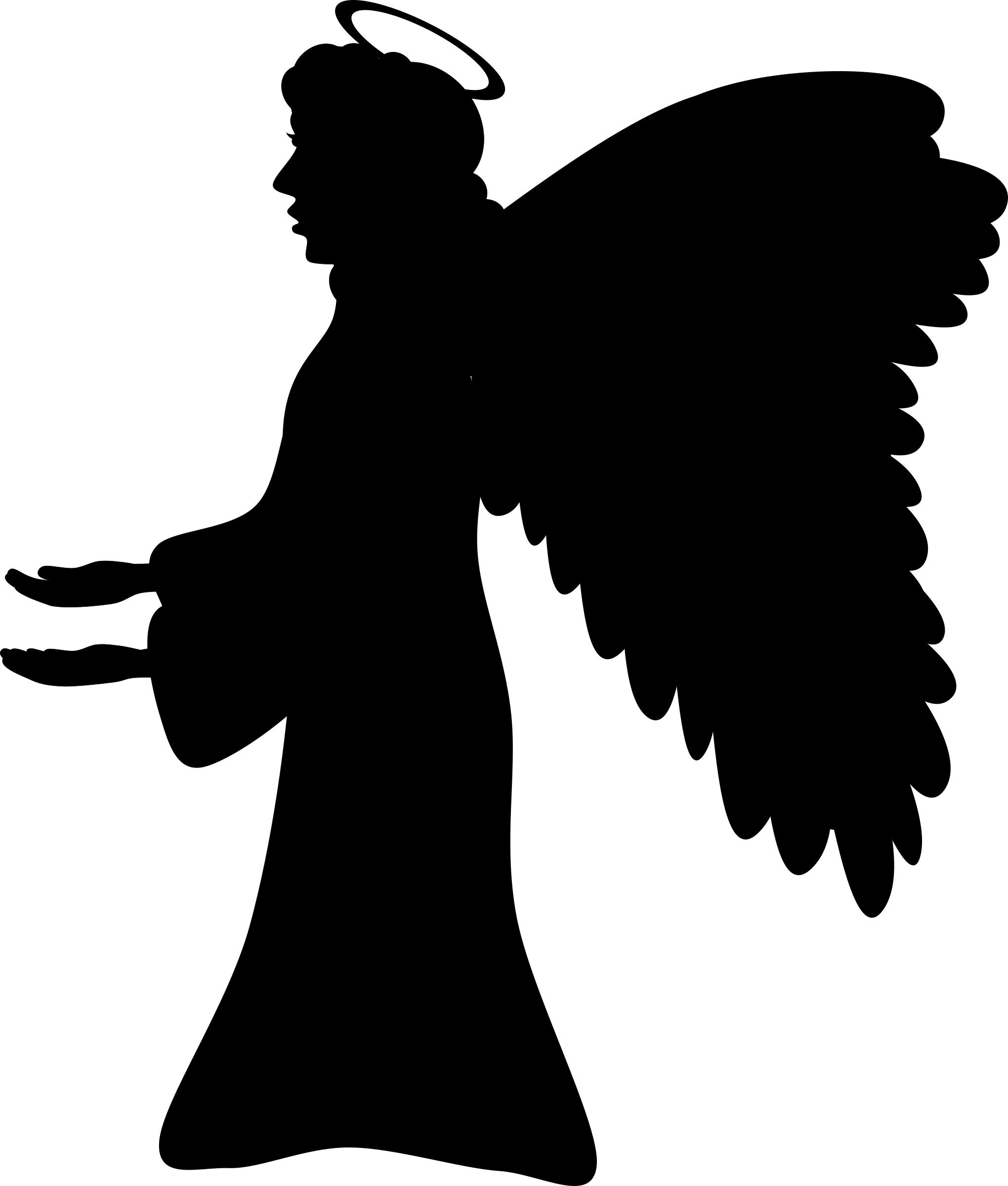 angel silhouette clip art free at getdrawings com free for rh getdrawings com angel clipart free black and white angel clip art images free