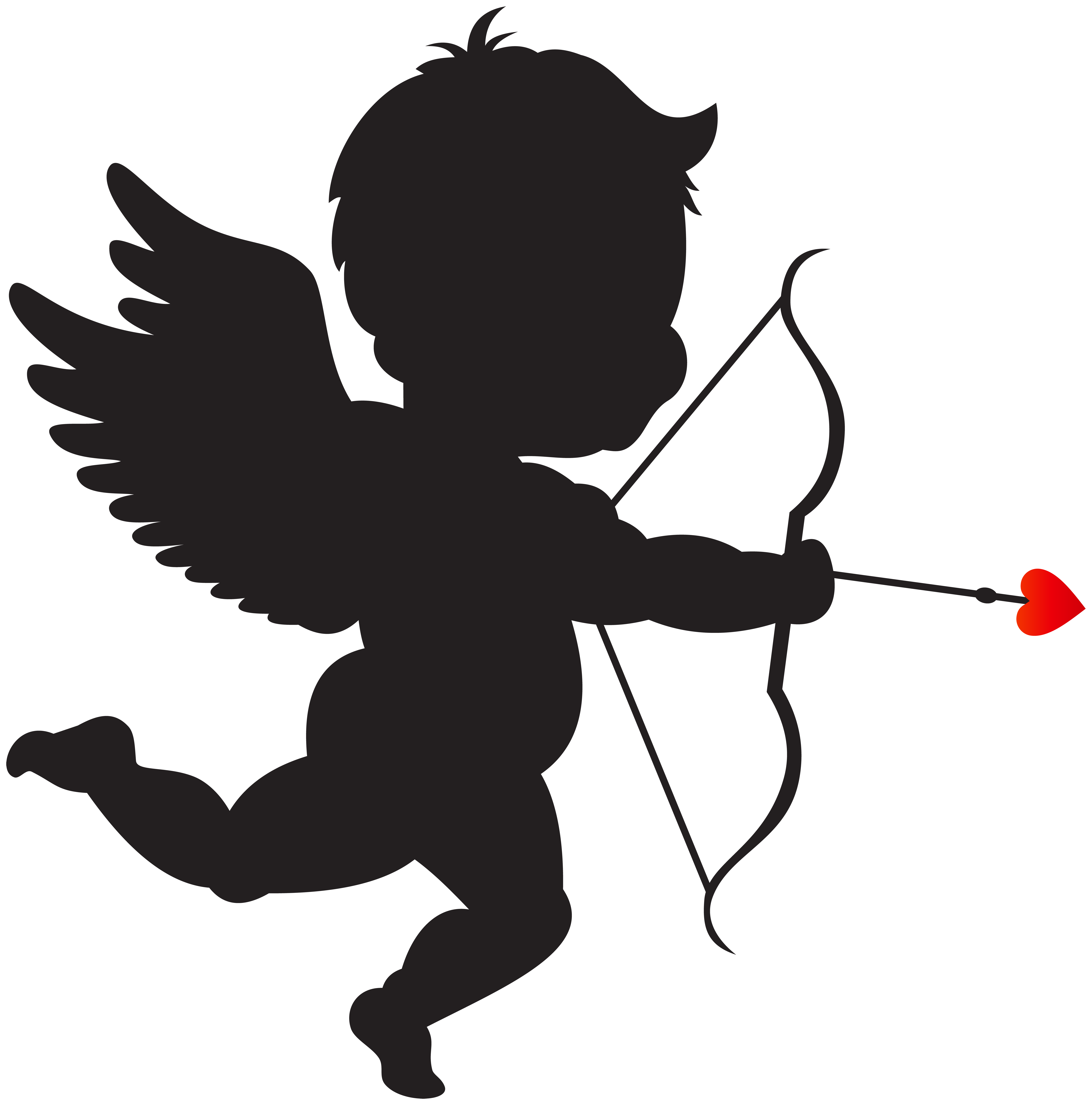 7904x8000 Cupid With Bow Silhouette Png Clip Art Imageu200b Gallery
