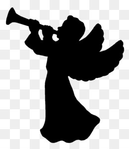 260x300 Free Download Christmas Silhouette Angel Clip Art