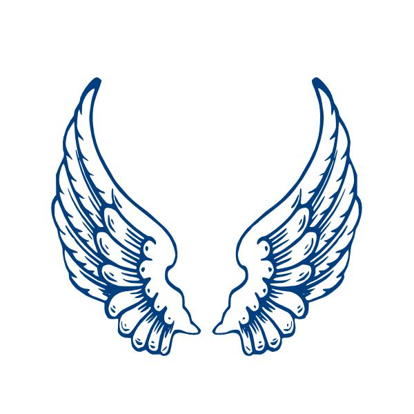600x600 Angel Wings Template Largeangelwings Clip Art