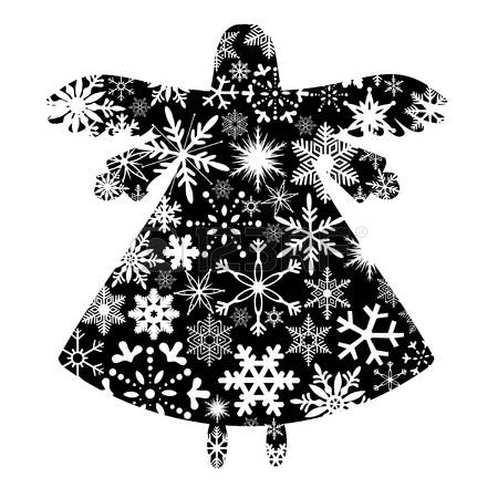 450x450 Clipart Free Angel Ornament Silhouette