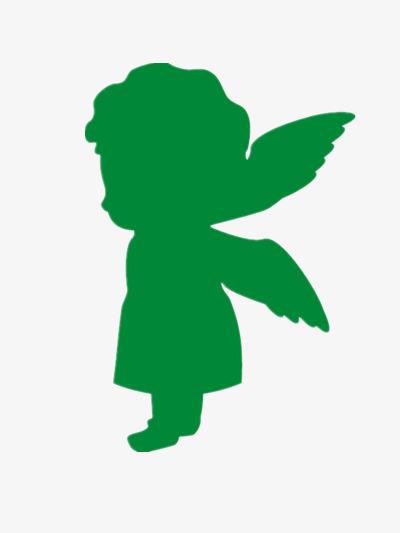 400x533 Green Angel Silhouette, Green Elements, Angel Creative, Silhouette