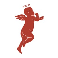 200x200 Set Of Angel Silhouettes Vector Image