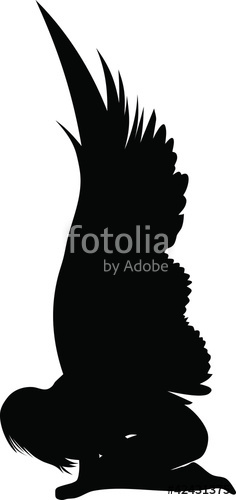 236x500 Angel Silhouette Stock Image And Royalty Free Vector Files