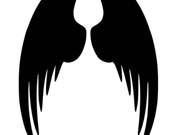 340x270 Angel Wing Stencil Etsy