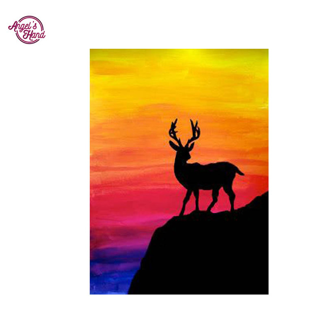 640x640 Angel's Hand Deer Shadow Diamond Embroidery Diy Diamond Paintings