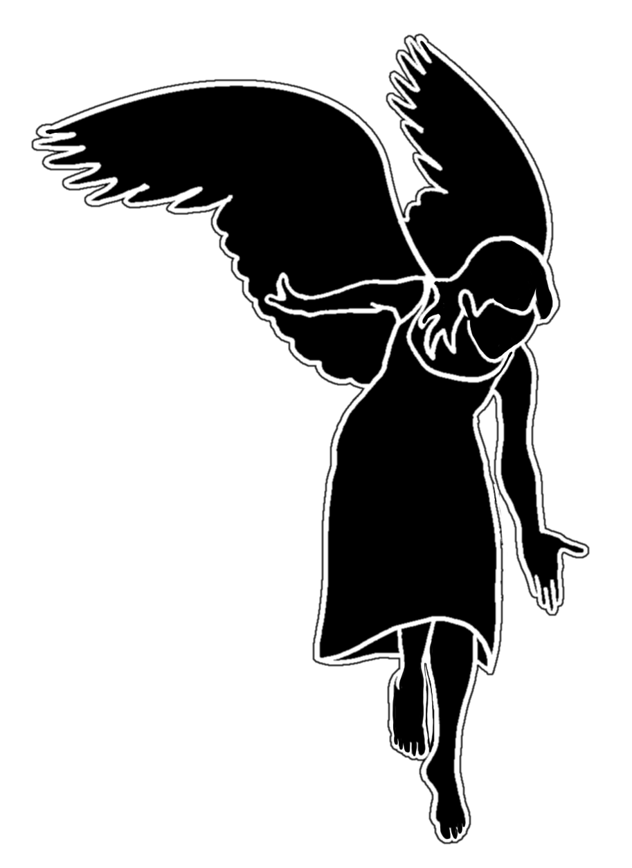 913x1255 Angel Silhouettes