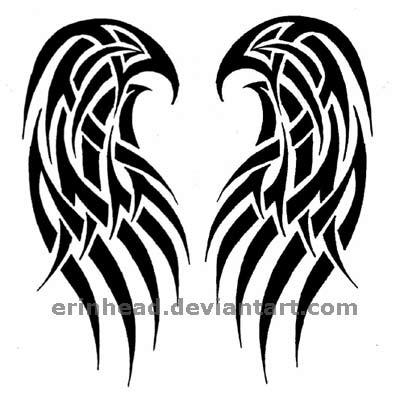 400x403 Tribal Angel Cat Tattoo Design