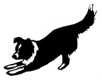 340x270 Angel Dog Silhouette Tattoos
